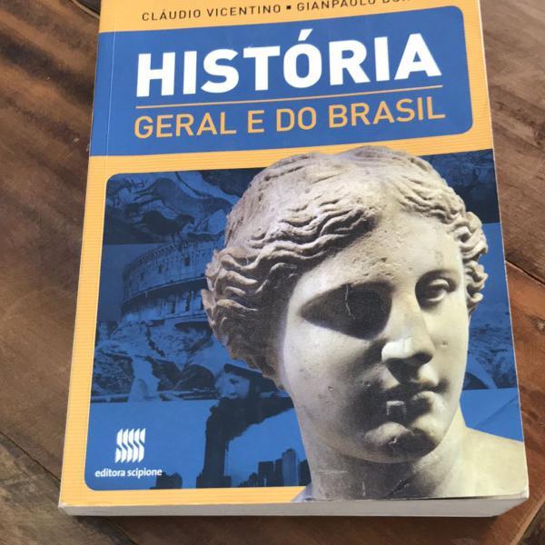 Livro história geral e do brasil editora scipione