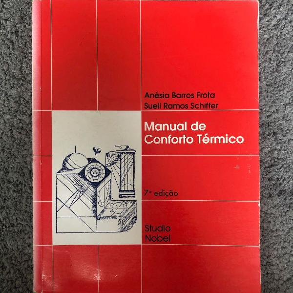 Livro manual de conforto térmico anésia barros frota /