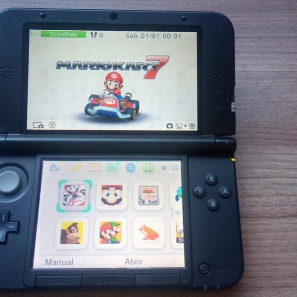 Nintendo 3ds xl com 5 jogos inclusos