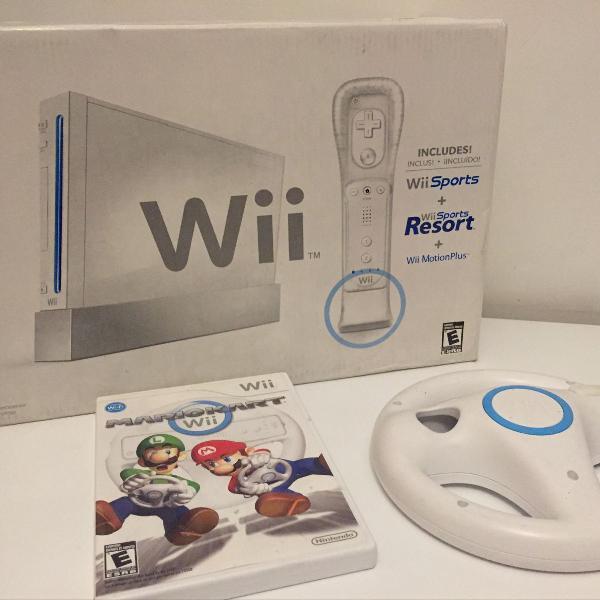 nintendo wii + mario kart Wii