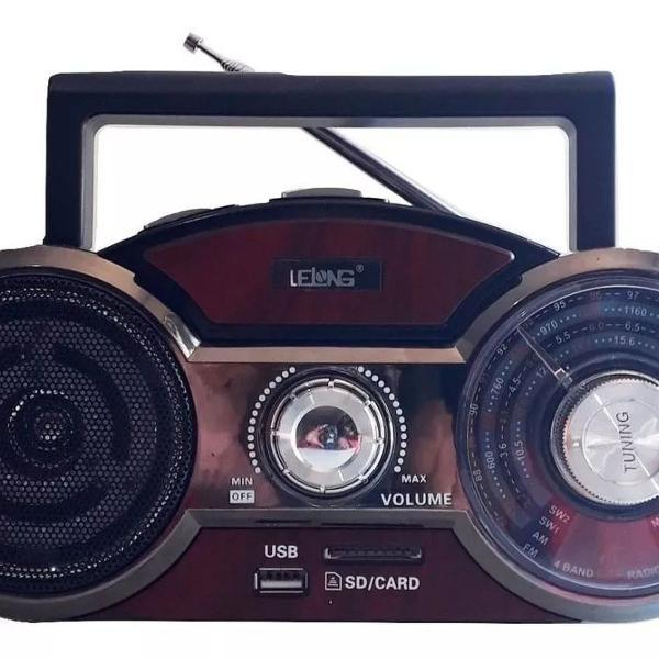 Rádio am fm sw12 bluetooth analógico bateria recarregável