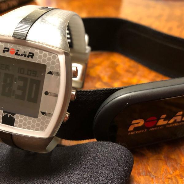 Relogio polar ft4 com monitor cardiaco novo