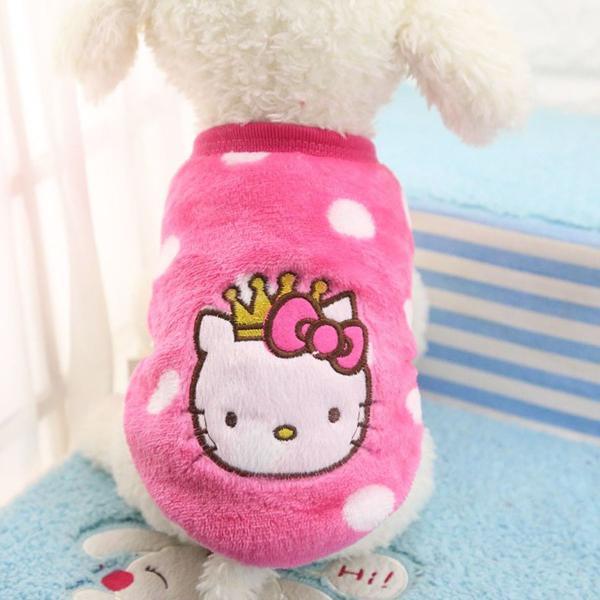 Roupa hello kitty - para cães ou gatos - inverno