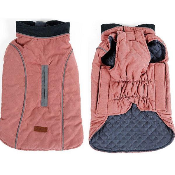 Roupa pet inverno, quentinha! rosa envelhecido e cinza