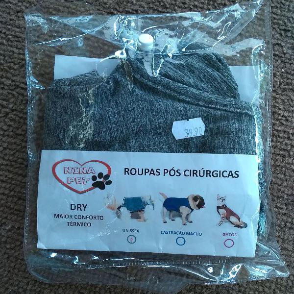 Roupa pós cirúrgica/castração cães pequenos