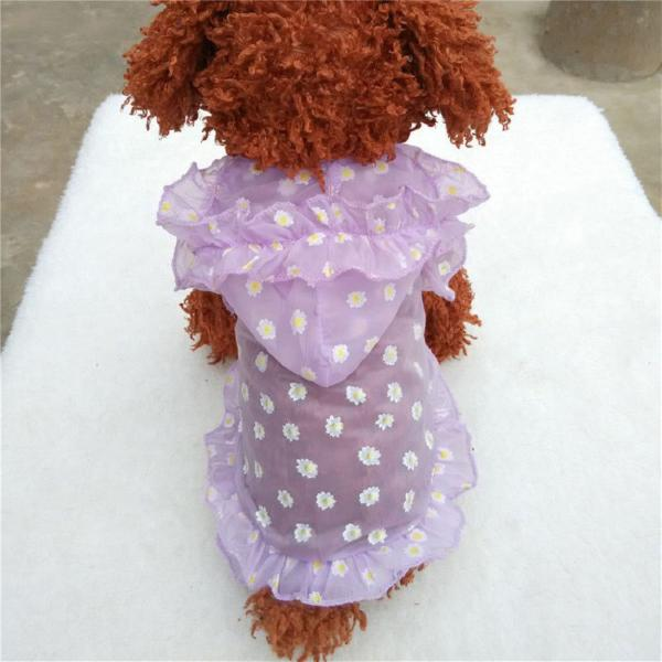 Roupas/capa pet cachorro/ gato roupinha sintética florida