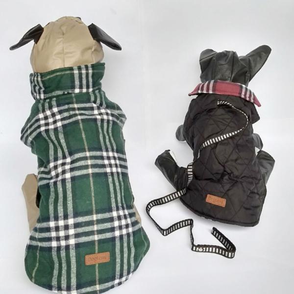 Roupinha de cachorro dupla face - xadrez e preto