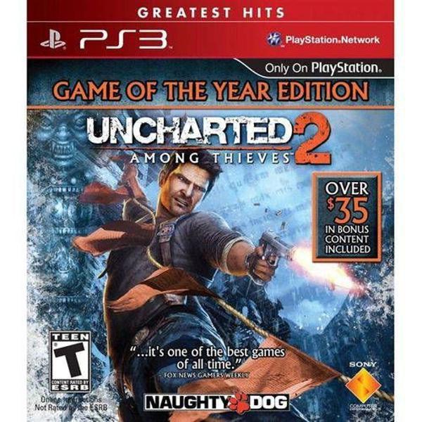 uncharted 2 - among thieves ps3 mídia física (usado)
