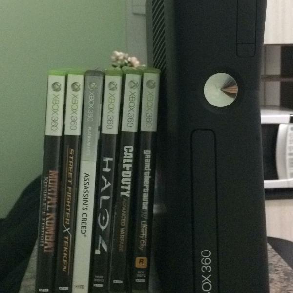 Xbox360 destravado + 6 jogos originais