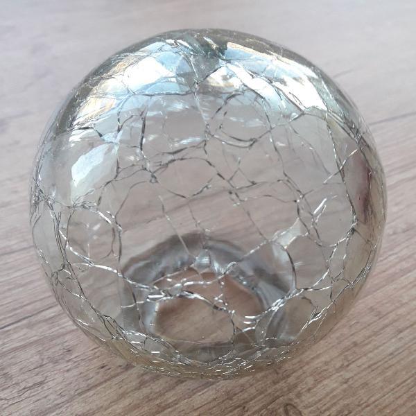 Bola decorativa vidro craquelado
