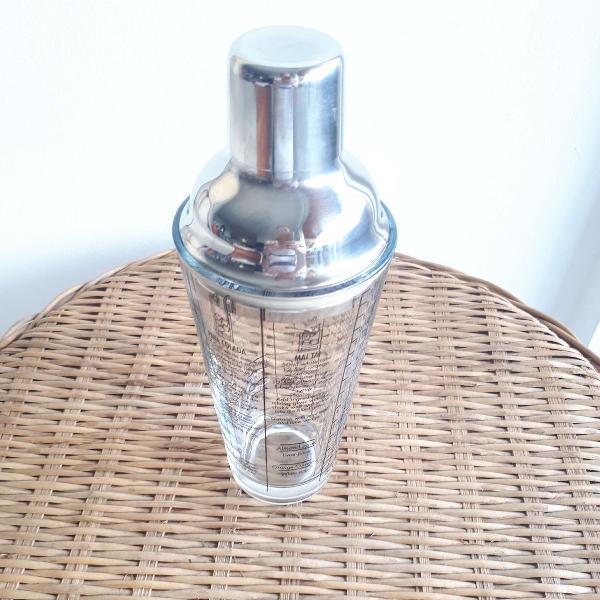 Coqueteleira de vidro e inox