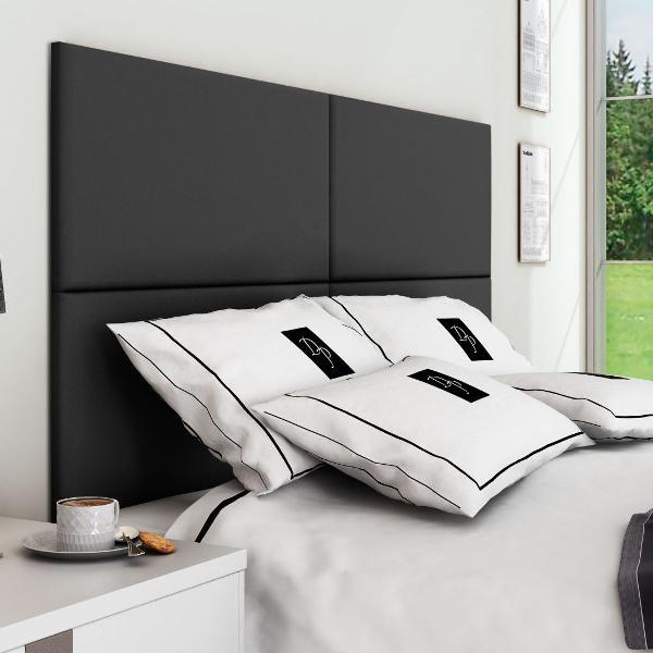 Cabeceira painel para cama box queen 160cm suede preto