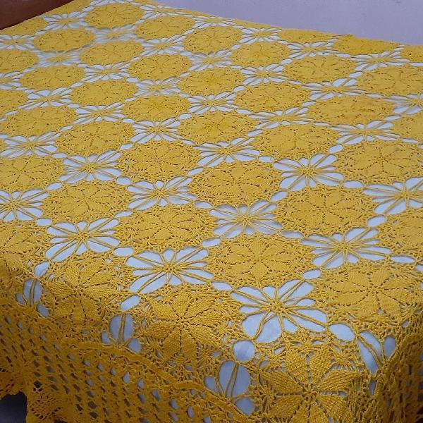 Colcha de cama crochê