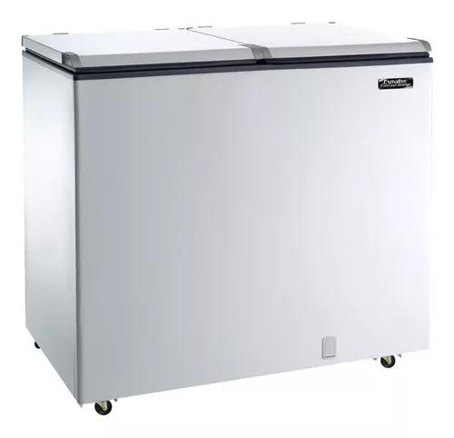 Freezer horizontal esmaltec 2 tampas, 305l, branco - efh350