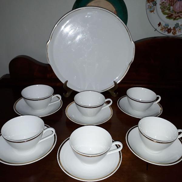 Jogo de chá antigo em porcelana renner