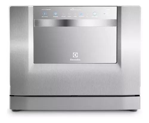 Lava louças electrolux le06x inox blue touch 6 serviços