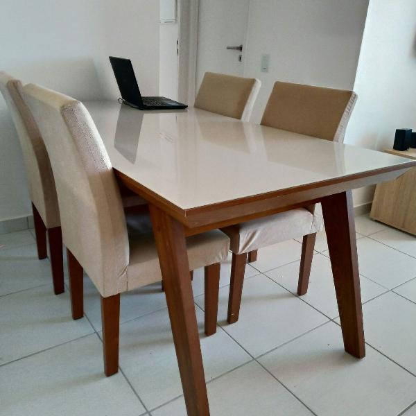 Mesa 6 cadeiras mobly