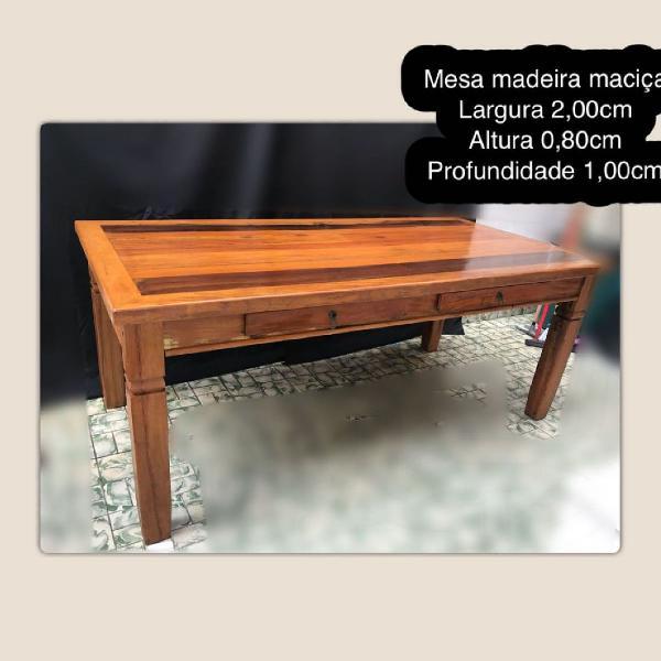 Mesa grande madeira maciça belíssima