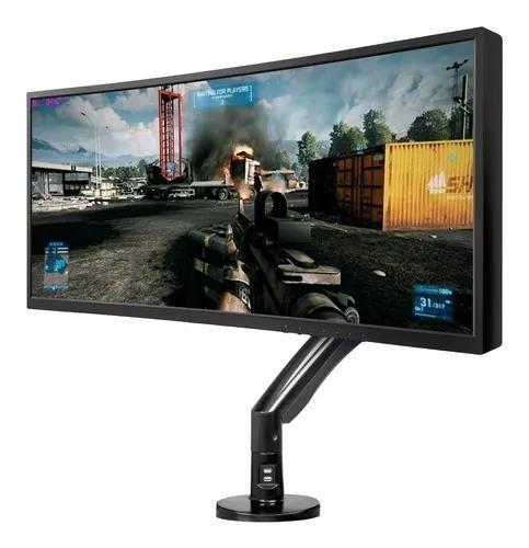 Suporte monitor gamer articulado até 35pol 9kg f100a nb elg
