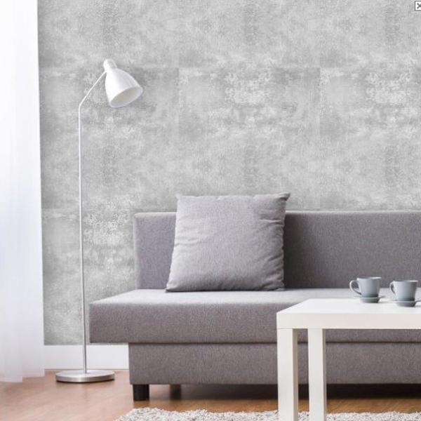 Adesivo de parede cimento concreto cinza