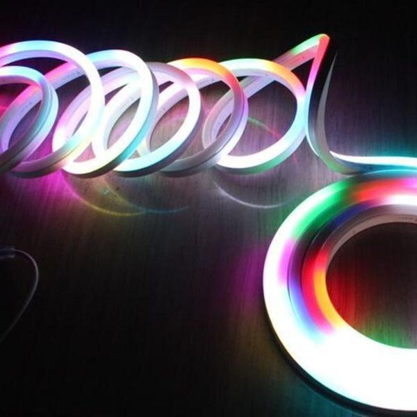 Fita led neon rgb rolo 5 metros 8 funções prova d´água