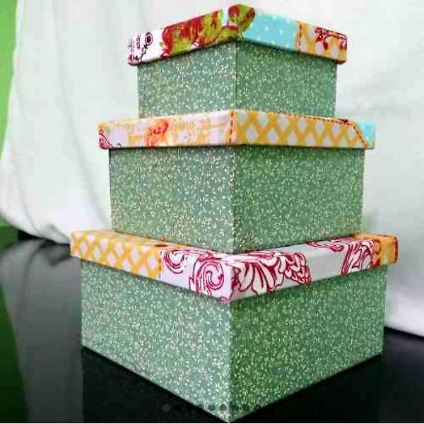 Kit caixas decoradas mdf - trio borboleta - novas