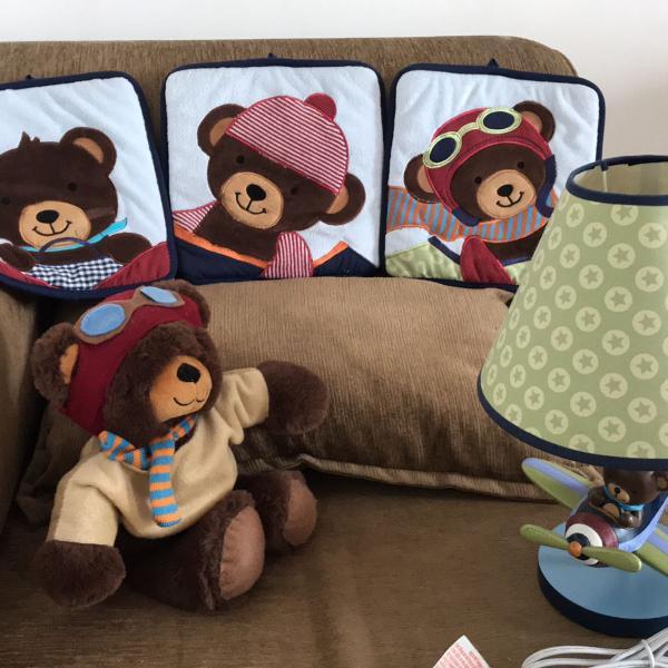 Kit para decoração urso aviador