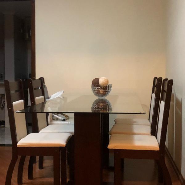 M mesa de jantar seis lugares novinha 200cm de comprimento x