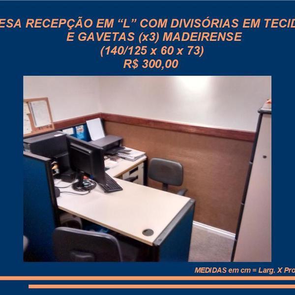 Mesa recepção escritório