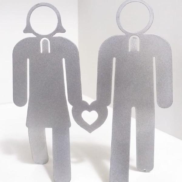 Porta retrato foto 3x4 amor casal