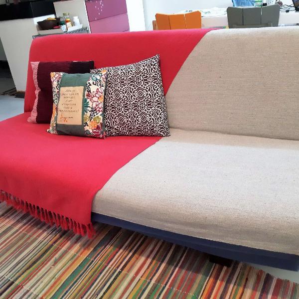 Sofá cama casal prático e versátil