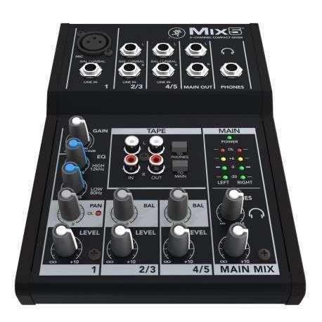Mixer mackie mix5 (5 canais)