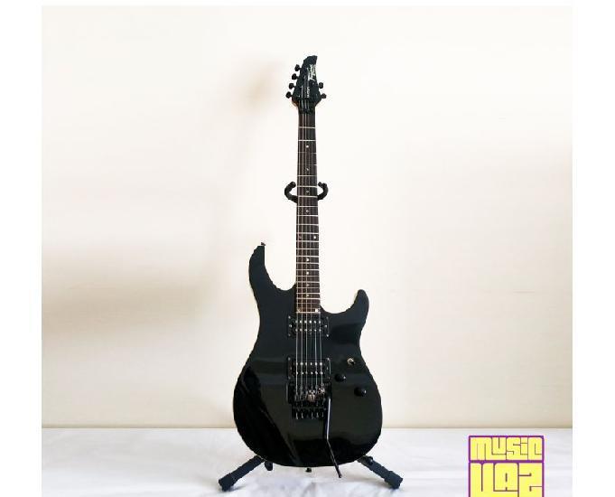 Guitarra tagima vulcan preta ponte flutuante push pull