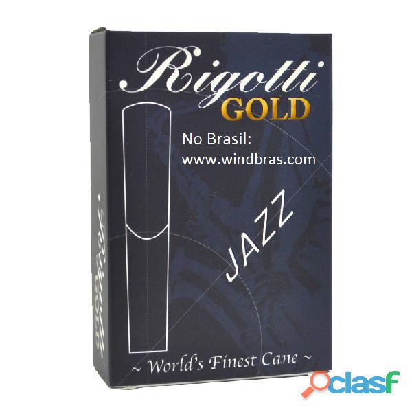 Palhetas rigotti para saxofone tenor de 1,5 a 4 (caixa com 10 un.)