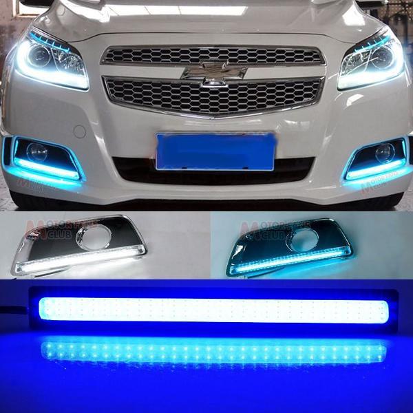 2 leds automotivo azul cristal, alto brilho, 17 cm, 12 volts