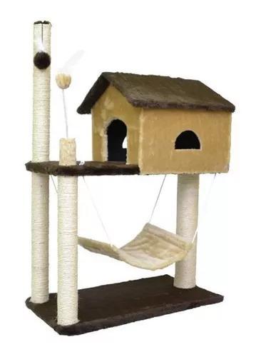 Arranhador house para gatos rede+casinha+ sisal