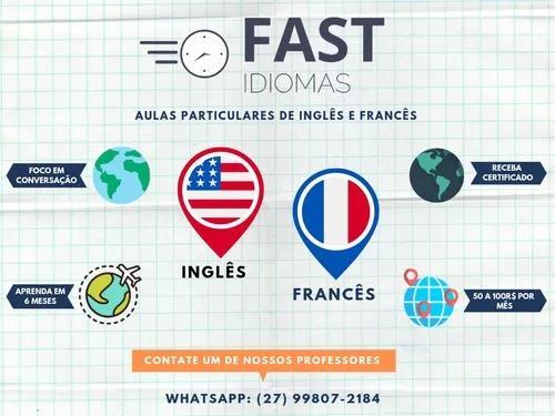 Aulas particulares de inglês e francês (skype)
