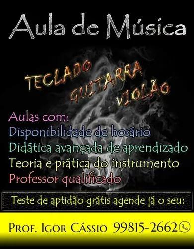 Aulas particulares de música.