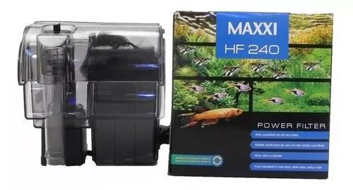 Filtro externo maxxi hf-240 l/h para aquários até 80
