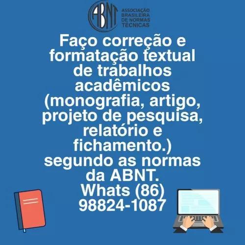 Formatação e correção de trabalhos acadêmicos