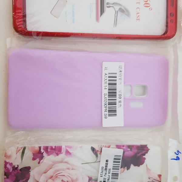 Kit 3 capas case samsung s9