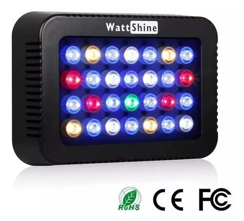 Luminária de led wattshine 140w para aquário marinho
