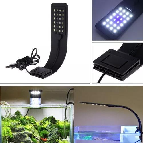 Luminária slim 10w led iluminação aquario plantado peixe