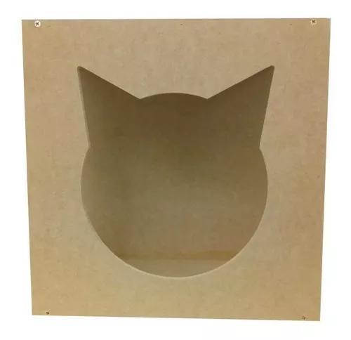 Nicho toca cama refúgio p/ gatos mdf 0843r