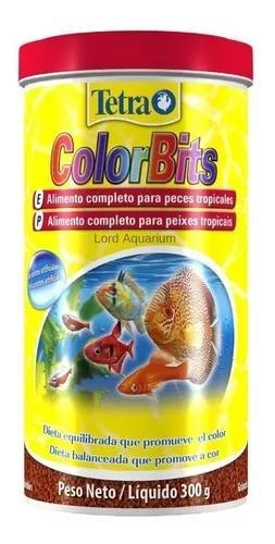 Ração tetra color bits 300g para peixes tropicais val2021