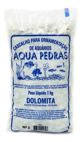 Substrato para aquários aqua pedras dolomita - tamanho 2