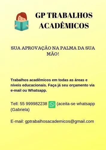 Trabalhos acadêmicos - gp trabalhos acadêmicos