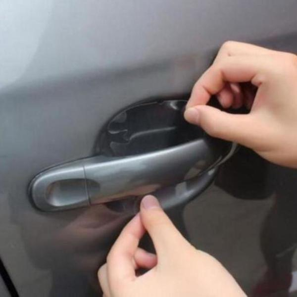 Adesivo protetor maçaneta porta carro anti risco contra