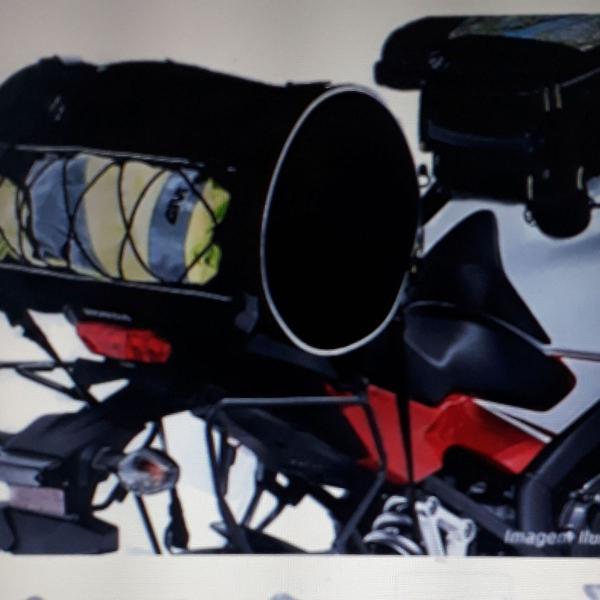 Bolsa/ mochila para moto, 33 litros com capa de chuva.