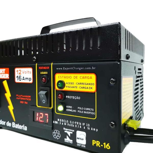 Carregador bateria 12 volts voltímetro digital e reativador